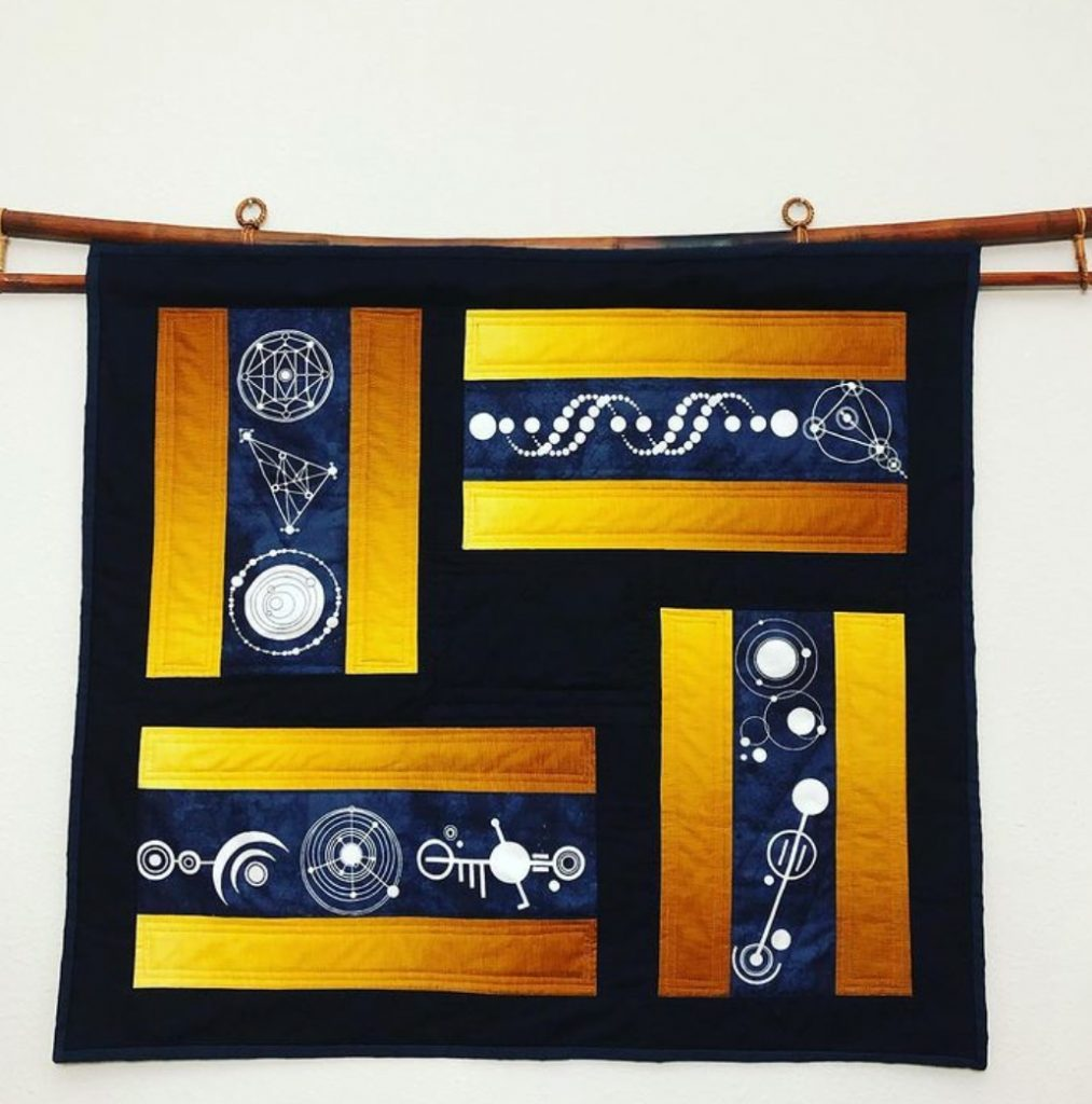 Quilted Wall Hanging by Designs by RSH shows how one maker is selling quilts on Etsy