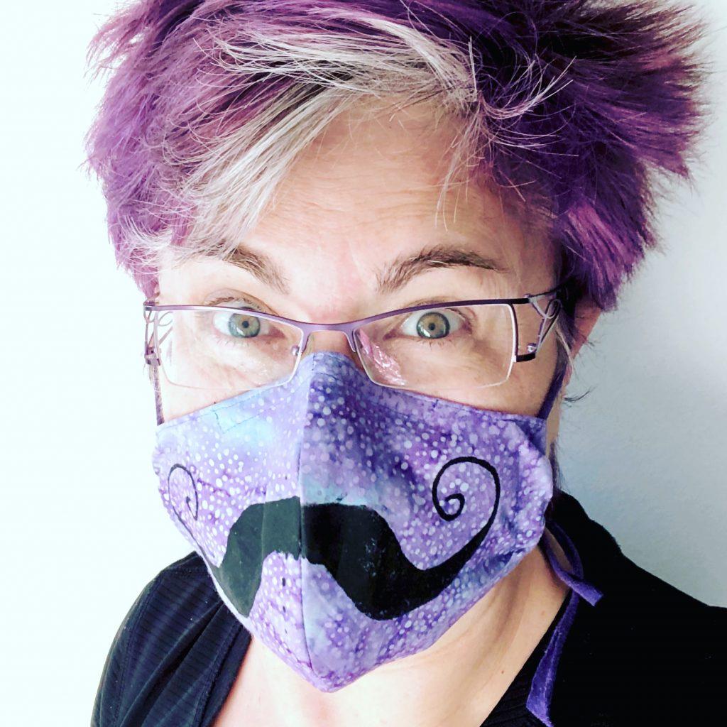 Shows Lyric Montgomery Kinard Wearing Face Mask