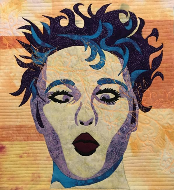 Virtual Quilting Teacher Lyric Montgomery Kinard Playful Portraiture class sample