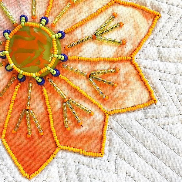 Shows class sample for teaching quilting online