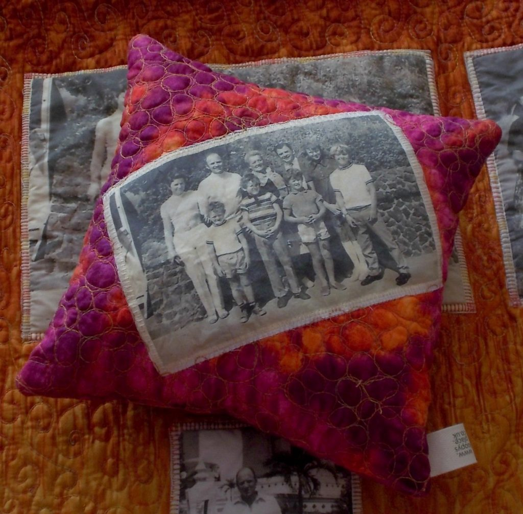 Photo Quilt and Pillow from Values-driven business Loopy's Place